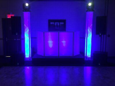 DJ stage and dance floor